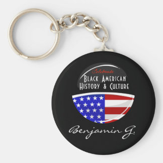 Celebrate Black American History Glossy Emblem Basic Round Button Keychain