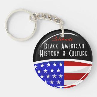 Celebrate Black American History Glossy Emblem Double-Sided Round Acrylic Keychain