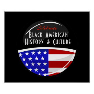 Celebrate Black American History Glossy Emblem Poster