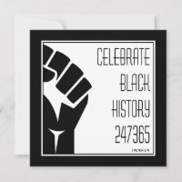 CELEBRATE BLACK HISTORY 247365 Power Fist Custom