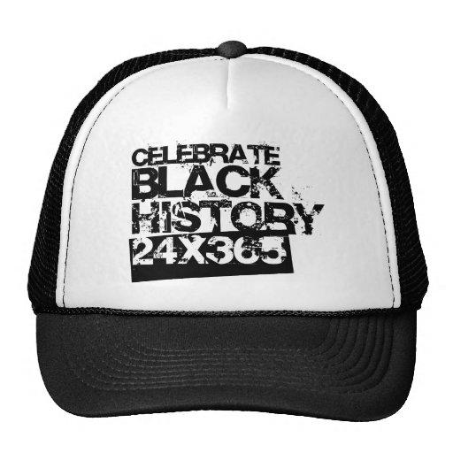 CELEBRATE BLACK HISTORY 24x365 Mesh Hats