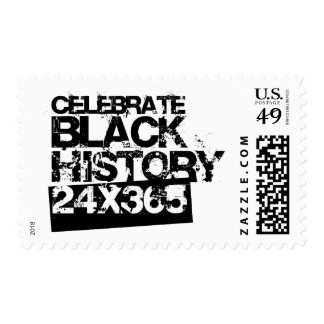 CELEBRATE BLACK HISTORY 24x365 Postage Stamp