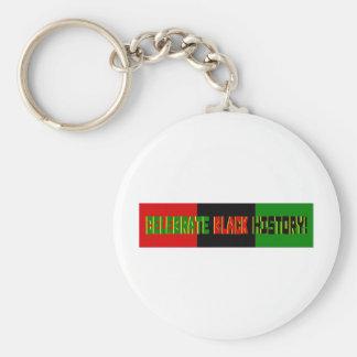 Celebrate Black History--Red, Black & Green Banner Keychain