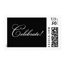 Celebrate - Black Postage
