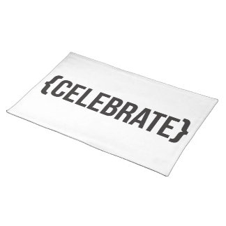 Celebrate - Bracketed - Black and White Place Mats