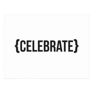 Celebrate - Bracketed - Black and White Postcard