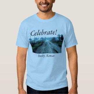 Celebrate! Busby, Kansas T Shirt