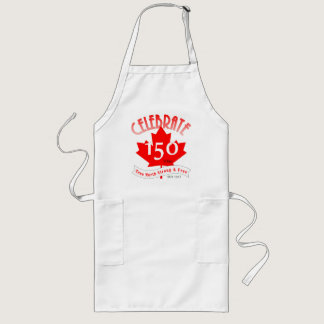 Celebrate Canada 150 Years Long Apron