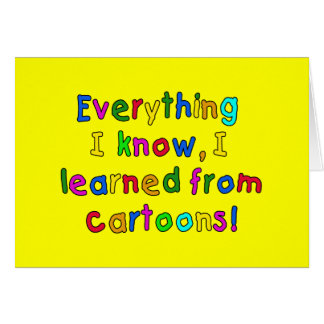 Celebrate CARTOONS with a Cute T-shirt Greeting Card