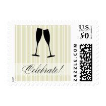 Celebrate Champagne Toast Stamp