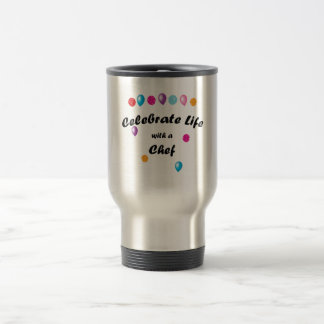 Celebrate Chef 15 Oz Stainless Steel Travel Mug