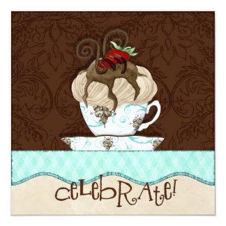 Celebrate Chocolate Birthday Party Invitation