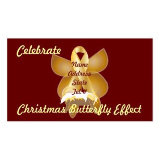 Celebrate Christmas Butterfly Effect-Customize Business Card Templates