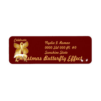 Celebrate Christmas Butterfly Effect-Customize Label