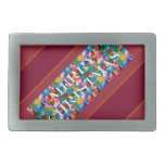 Celebrate CHRISTMAS :  Crazy Colorful n SHARE Joy Belt Buckle