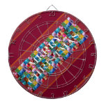 Celebrate CHRISTMAS :  Crazy Colorful n SHARE Joy Dartboard