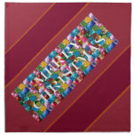Celebrate CHRISTMAS :  Crazy Colorful n SHARE Joy Printed Napkins