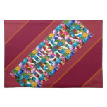 Celebrate CHRISTMAS :  Crazy Colorful n SHARE Joy Place Mats