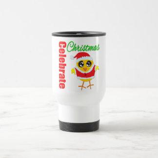 Celebrate Christmas Santa Chick 15 Oz Stainless Steel Travel Mug