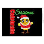 Celebrate Christmas Santa Chick Cards