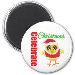 Celebrate Christmas Santa Chick Magnets
