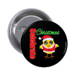 Celebrate Christmas Santa Chick Pins