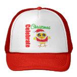 Celebrate Christmas Santa Chick Trucker Hat