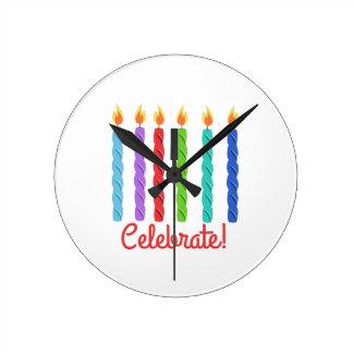 Celebrate Round Wallclock