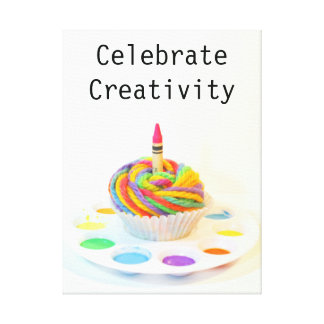 Celebrate Creativity Cupcake Canvas Print