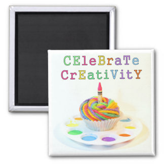 Celebrate Creativity Cupcake Photography Magnets