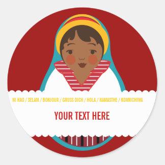 Celebrate Culture & Diversity One World Label Sticker