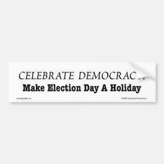 Celebrate Democracy Holiday Bumper Sticker