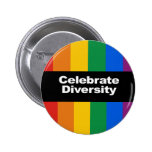 Celebrate Diversity 2 Pinback Buttons