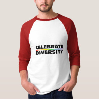 Celebrate Diversity Basic 3/4 Sleeve Raglan T-Shirt
