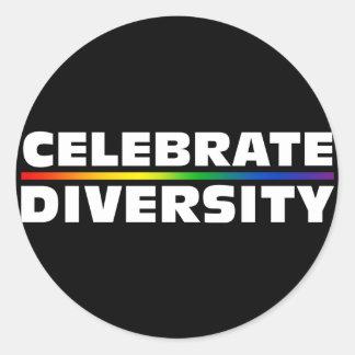 Celebrate Diversity Black Sticker