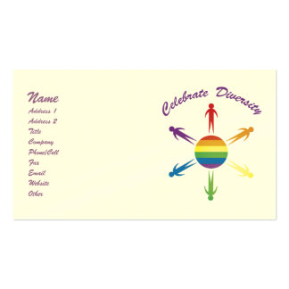 Celebrate Diversity Circle Biz Cards Double-Sided Standard Business Cards (Pack Of 100)