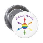 Celebrate Diversity Circle Buttons