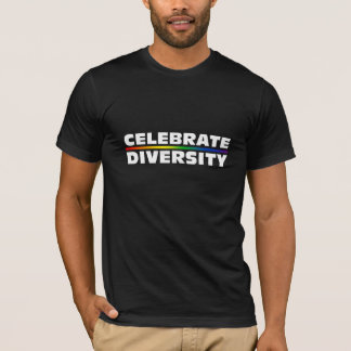 Celebrate Diversity Dark Basic American Apparel T- T-Shirt