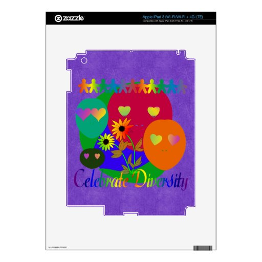 Celebrate Diversity Decal For iPad 3