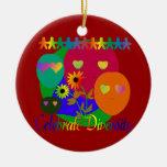 Celebrate Diversity Double-Sided Ceramic Round Christmas Ornament