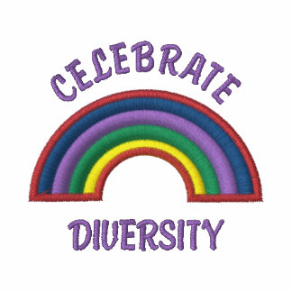 Celebrate Diversity Embroidered Rainbow Hoodie