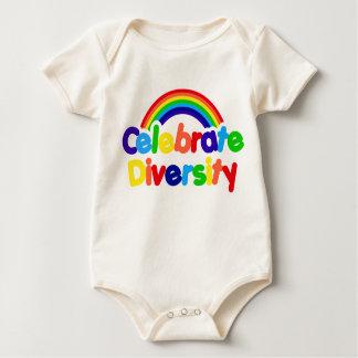 Celebrate Diversity Gay Pride Rainbow Baby Bodysuit