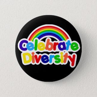 Celebrate Diversity Gay Pride Rainbow Button