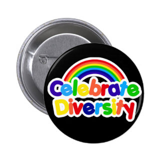 Celebrate Diversity Gay Pride Rainbow Button