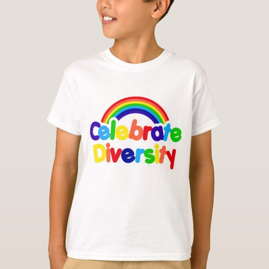 Celebrate Diversity Gay Pride Rainbow T-Shirt