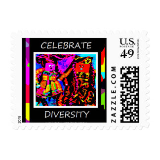 Celebrate Diversity - Inclusion Not Exclusion Postage