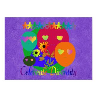 Celebrate Diversity 5x7 Paper Invitation Card