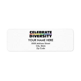 Celebrate Diversity Label