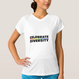 Celebrate Diversity Ladies Performance Micro-Fiber T-Shirt