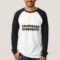 Celebrate Diversity Long Sleeve Raglan T-Shirt